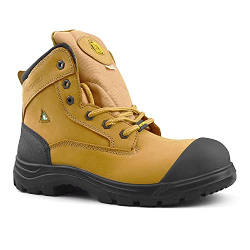 8b802ca70f3 Tiger Men's Safety Boots Steel Toe Waterproof CSA Approved Lightweight 6