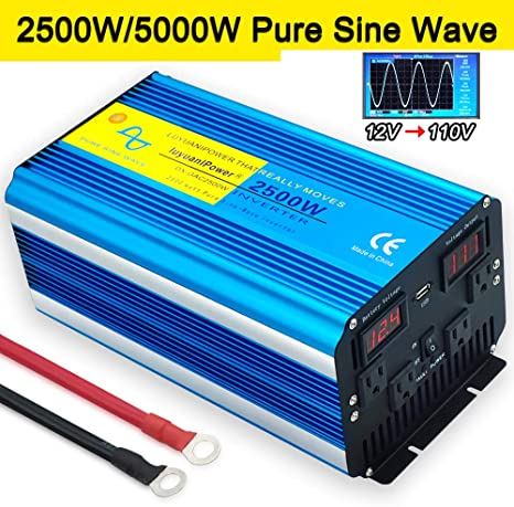 Power Inverter 2000 W 4000 W DC 24 V to 240 V converter softstart 2 ports USB 2.1 A