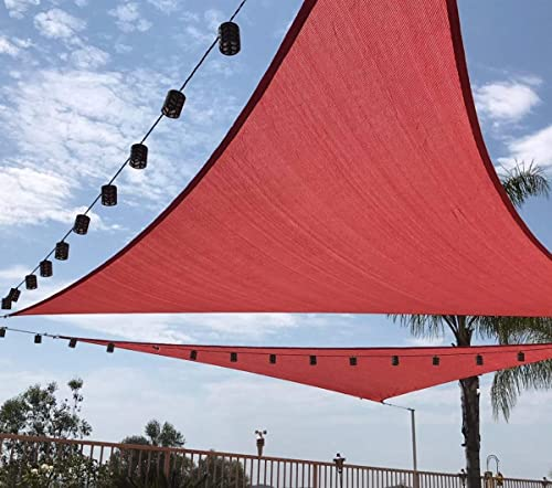 Quictent 185G HDPE Triangle Sun Shade Sail Canopy 98 UV Block Top Outdoor Cover Patio Garden Sand