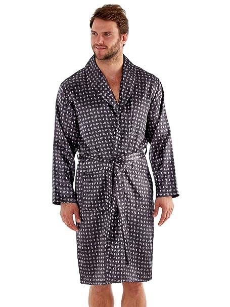 SaneShoppe - Bata - Manga Larga - para Hombre Gris Grey Dressing Gowns XX-Large: Amazon.es: Ropa y accesorios