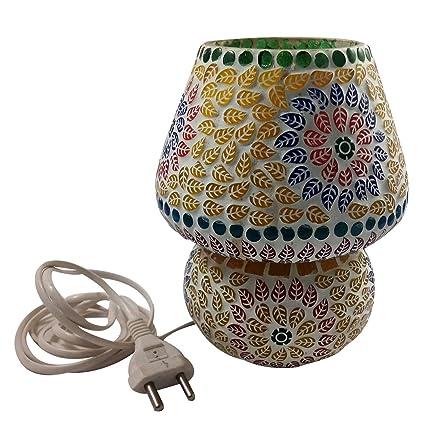 India Meets India - Lámpara de mesa hecha a mano de estilo ...