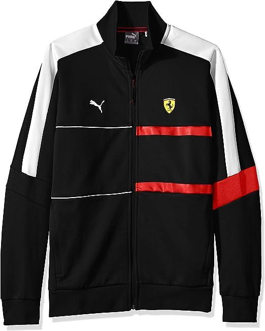 Puma Herren Scuderia Ferrari T7 Track Jacket Sweatshirt Amazon De Bekleidung