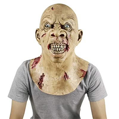 molezu Scary Latex Mask, Halloween Novelty Costume Party Mask: Toys & Games [5Bkhe0305570]