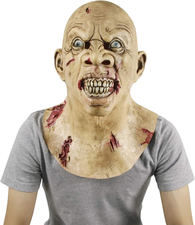 Molezu Scary Latex Mask, Halloween Novelty Costume Party Mask