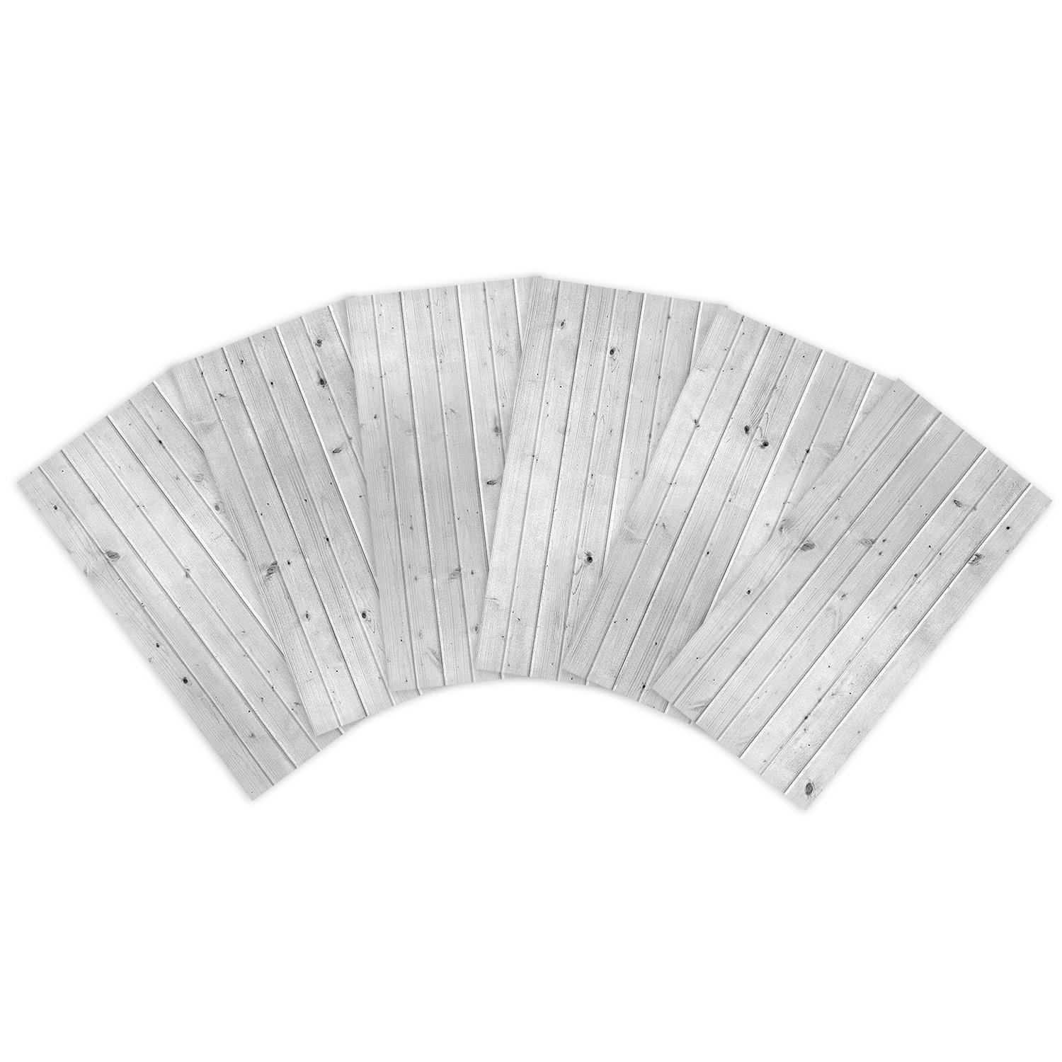 Lot of 6 2x4 Glue Up Ceiling Tile Skin - White Washed Knotty Pine