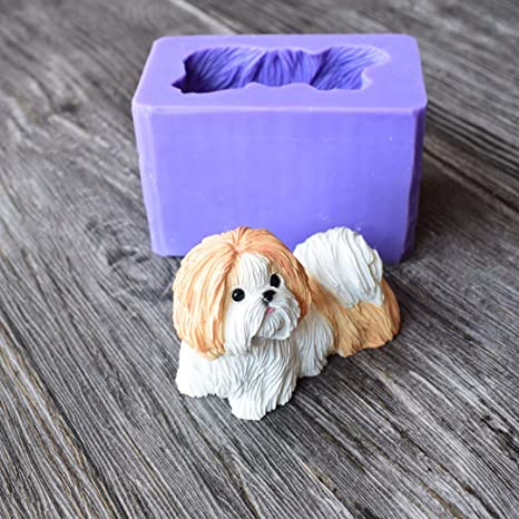 Amazoncom Runloo Cute Shih Tzu Dog Silicone Mold For A Puppy