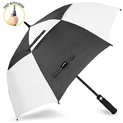 ZOMAKE Golf Umbrella Windproof Large 62 inch Double Canopy Automatic Open Umbrella for Men - Vented