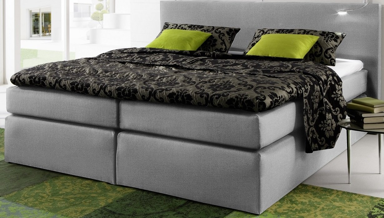 4 4 modernes box springbett boxspringbett 180x200cm topper waschbar obere matratze. Black Bedroom Furniture Sets. Home Design Ideas
