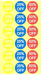 4801d4a859a 10% 25% 50% Off Sale Price Stickers Labels Percent Off Stickers for Retail