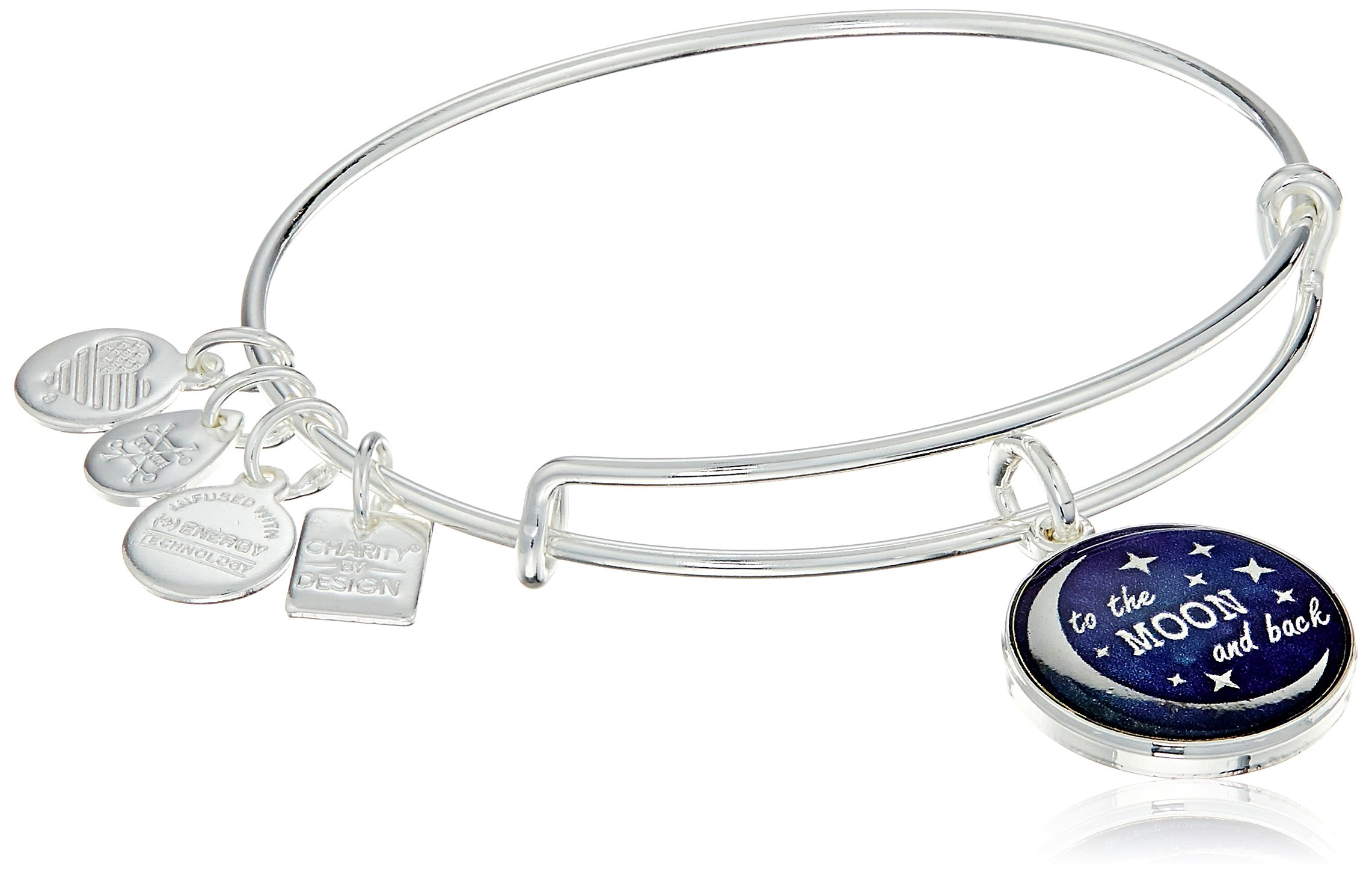 Alex and Ani Charity by Design Stellar Love Expandable Silver Wire Bangle Charm Bracelet