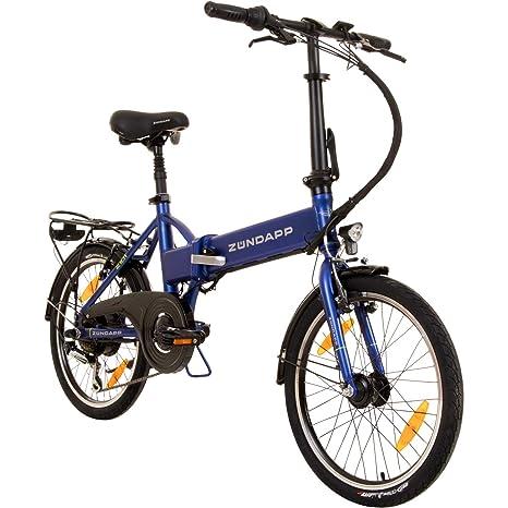 b3e0b411f7405d Zündapp Faltrad E-Bike 20 Zoll Z101 Klapprad Pedelec StVZO Elektrofaltrad 6  Gang (blau