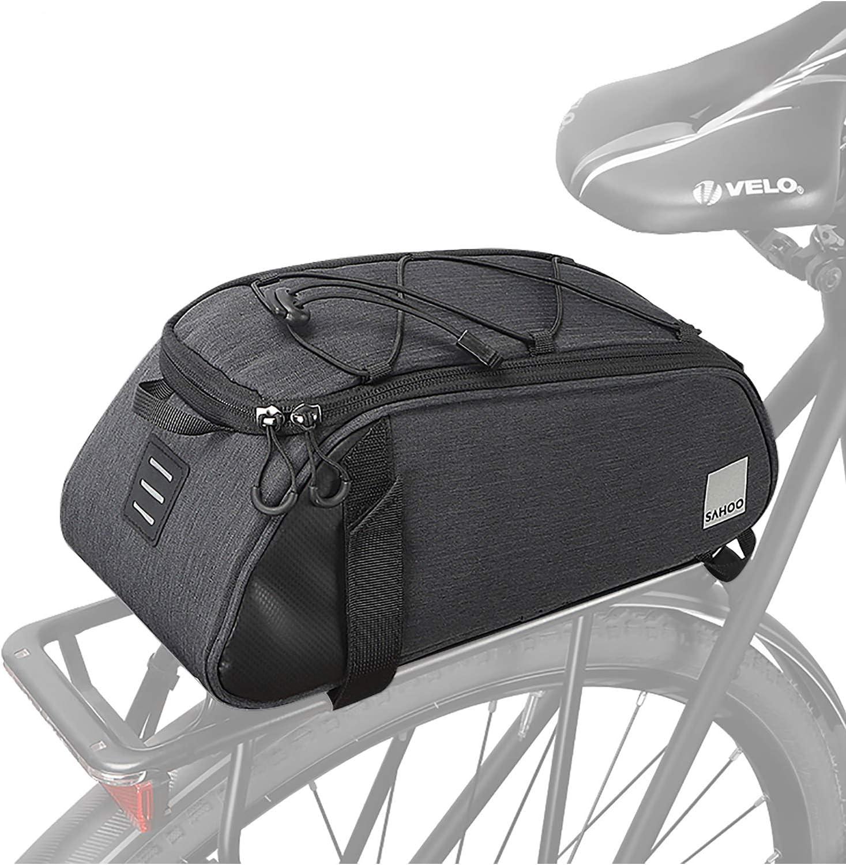 Cycling Bicycle Bike Rear Rack Bag Tail Seat Pannier Trunk Pack Shoulder Handbag