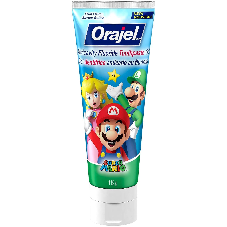 Orajel Anticavity Fluoride Toothpaste for Kids, Super Mario, 119-g Church & Dwight CA