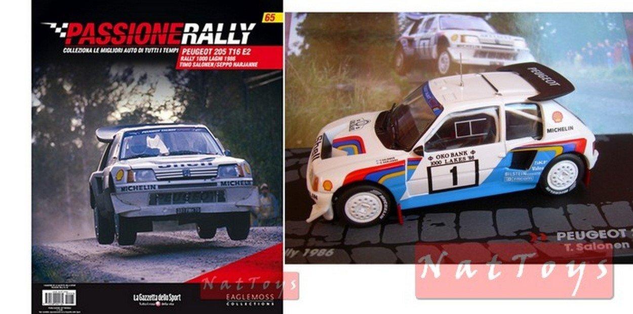 EDICOLA Peugeot 205 T16 E2 1000Laghi 1986 Salonen Model DIECAST 1:43 +fas Passione Rally: Amazon.es: Juguetes y juegos