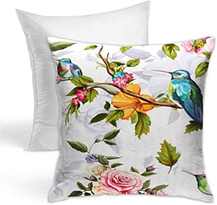 Amazon Com Hold Pillow Stylish Decorative Simple Geometric Pattern Sofa Home Car 18x18inches Red Flower Humming Bird Roses Peony Leaves On White Watercolor Pattern Blue Floral Kitchen Dining