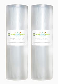 Amazon.com: FoodVacBags 2-pack 11X50 Rolls Vacuum Sealer ...
