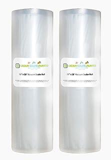 Amazon.com: FoodVacBags 2-pack 11X50 Rolls Vacuum Sealer ...