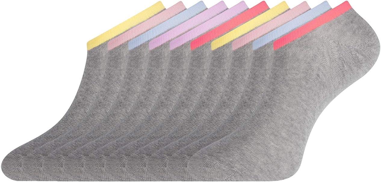 oodji Ultra Mujer Calcetines Tobilleros (Pack de 10), Multicolor ...