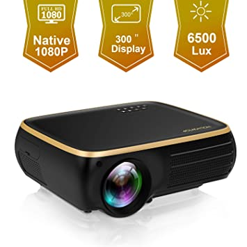 HOLLYWTOP M8 Native 1080P Proyector LED Full HD, 5000 Lux ...