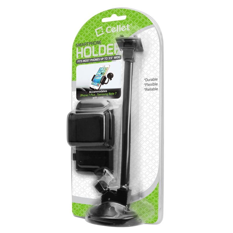 セルアクセサリーfor Less ( TM ) Celletフロントガラスダッシュボードカーマウント電話ホルダーブラックfor ZTEレバーLTE z936lバンドル(スタイラス& Microクリーニングクロス) – 買いによって B078G57K5S