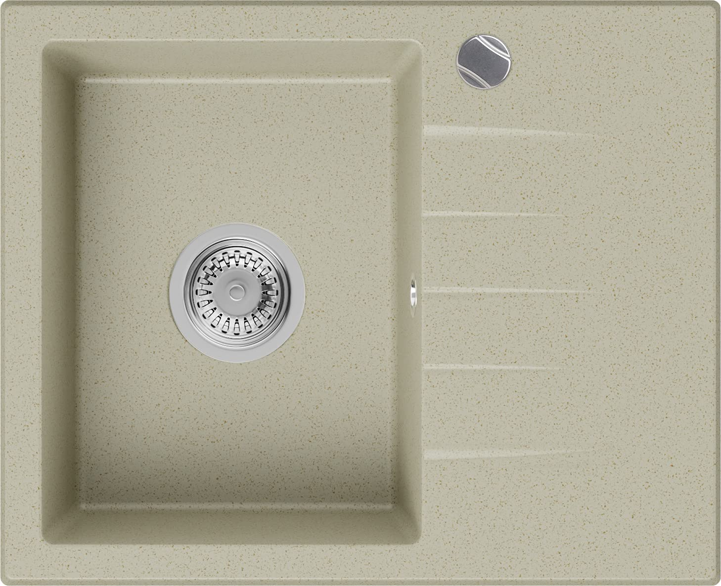 Granitspüle //NEU! Grau 100x50 cm// Elegant Spülbecken COMO 15 mit Siphon