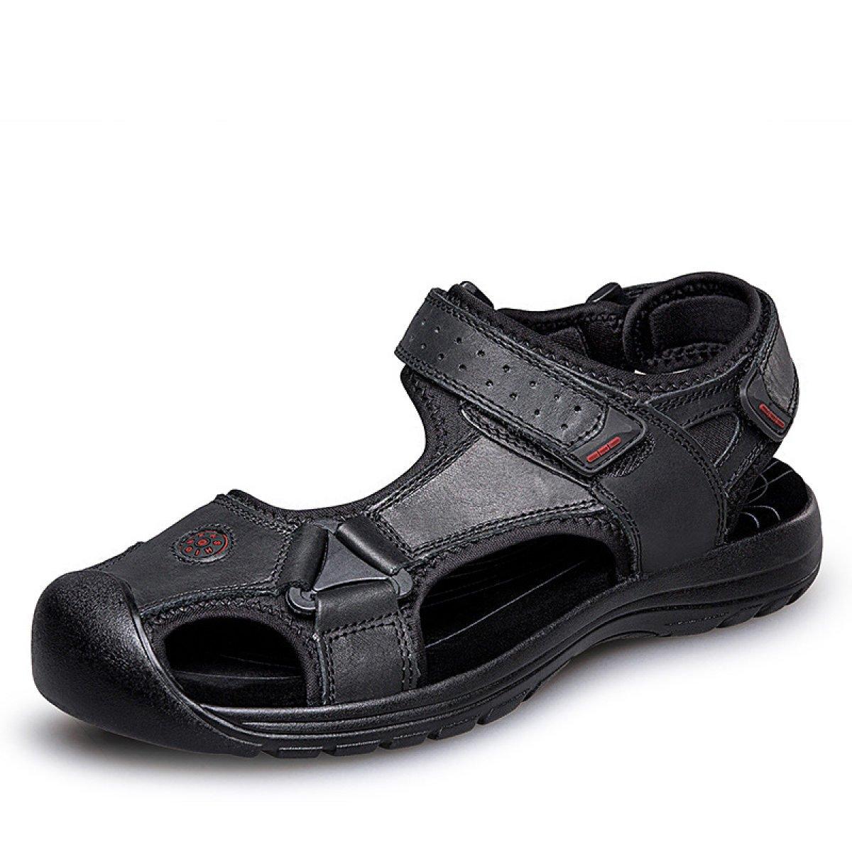 LYZGF Sandalias De Playa Ocasionales De La Juventud De Los Hombres Sandalias De La Comodidad De La Moda 39 EU|Black