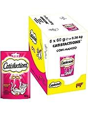 CATISFACTIONS Friandises au Bœuf pour Chat et Chaton, 6 Sachets de 60g