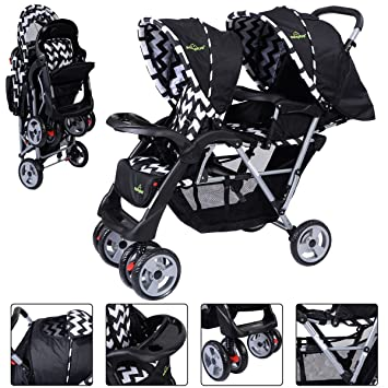 Amazon.com: Plegable individual Baby carriola de bebé doble ...