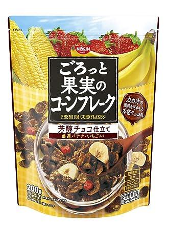 日清シスコ ごろっと果実のコーンフレーク 芳醇チョコ仕立て 200g×6袋