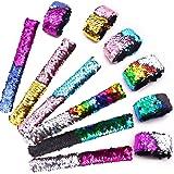 VGOODALL 24pcs Slap Bracelet,Kids Squin Bracelet Mermaid Bracelet Flip Wristband Bracelet Kids Birthday Party Favors Supplies