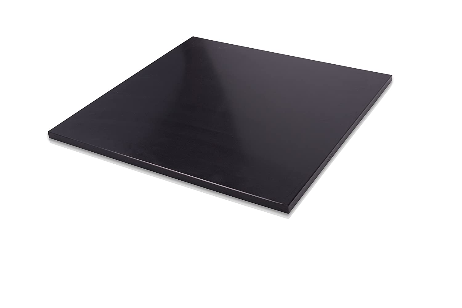 """1//4/"""" Black Starboard 8.5/"""" x 12/"""" HDPE Plastic for Marine Use"""