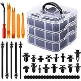 KUFUNG Car Bumper Retainer Clips & nylon Fasteners Rivet Kit -Most Popular Sizes Auto Push Pin Rivets Set -Door Trim Panel Cl