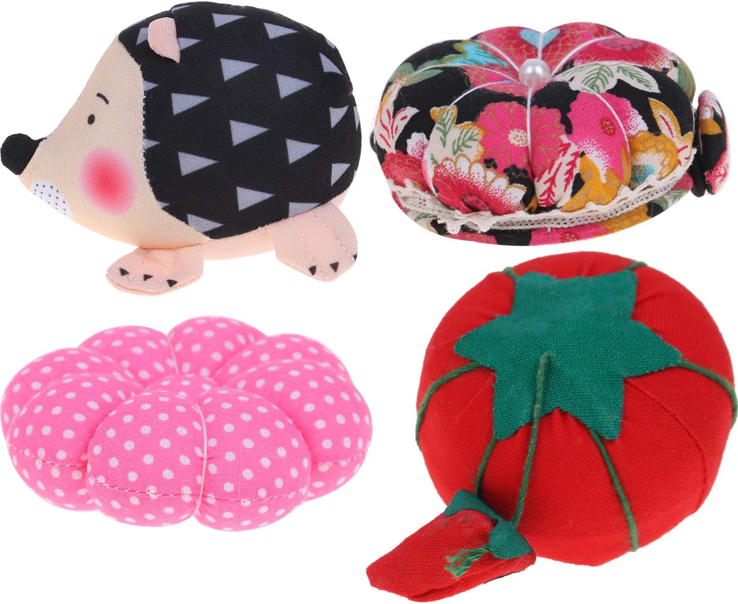 4PCS Pin Cushions Wrist Strap Pin Cushions Sewing Wearable Needle Pin Cushions for Sewing Accessories or DIY Crafts