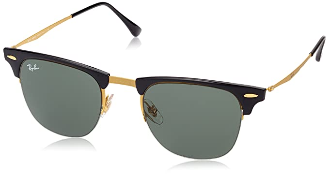 ray ban green glass golden frame  ray ban titanium man sunglass blasted gold frame green lenses 51mm non polarized