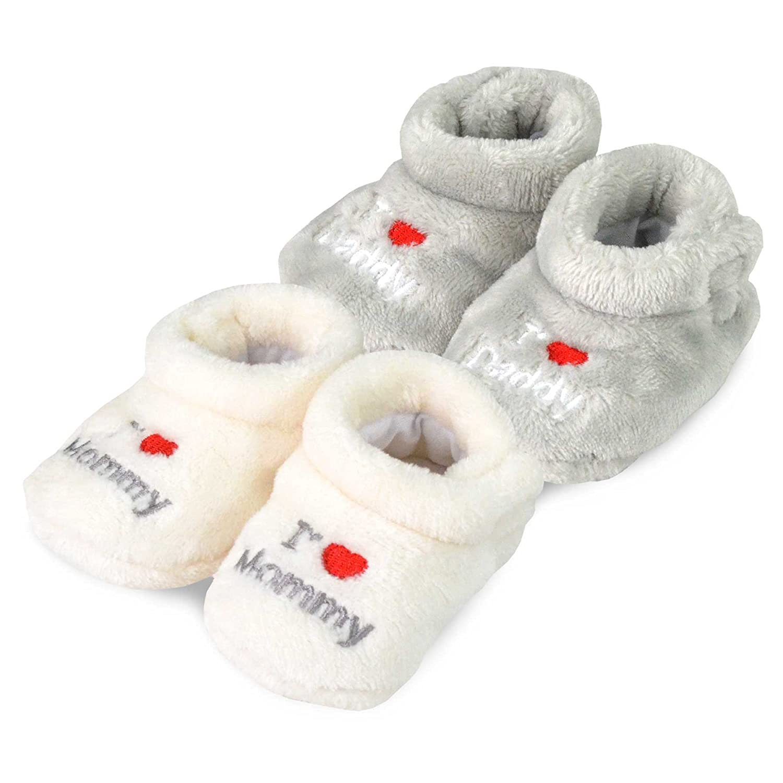 TeeHee Kids Fun and Cozy Baby Fleece Booties 2-Pack Soxnet Inc