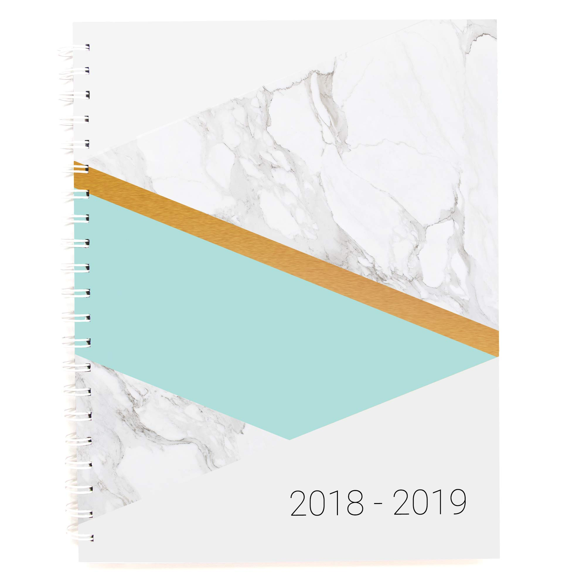 Planner 2018-2019 Monthly Weekly Academic Planner Appointment Book, 8.5 x 11 inches, Premium Paper, Chic Fashionable Elegant Student Planner (AJWP-113)