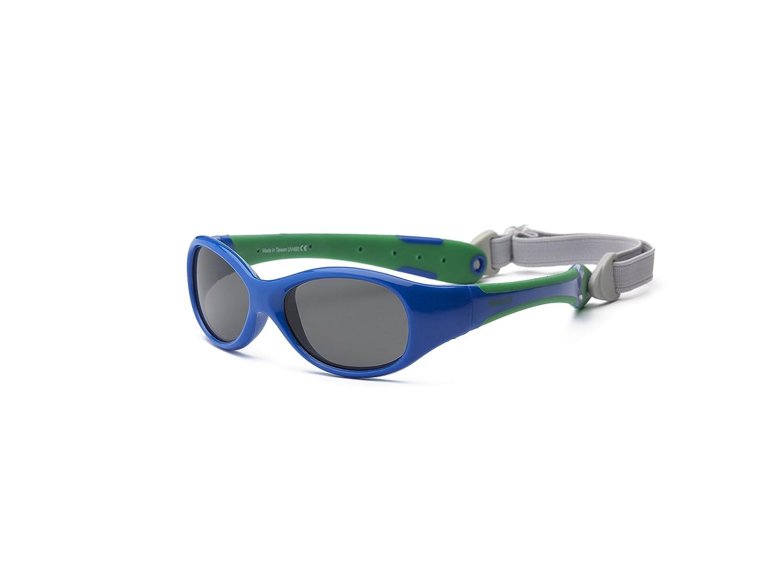 Real Kids 0EXPRYGR Explorer - Occhiali da sole da bambino, flessibili, misura 0-2 anni, colore: blu oltremare/verde