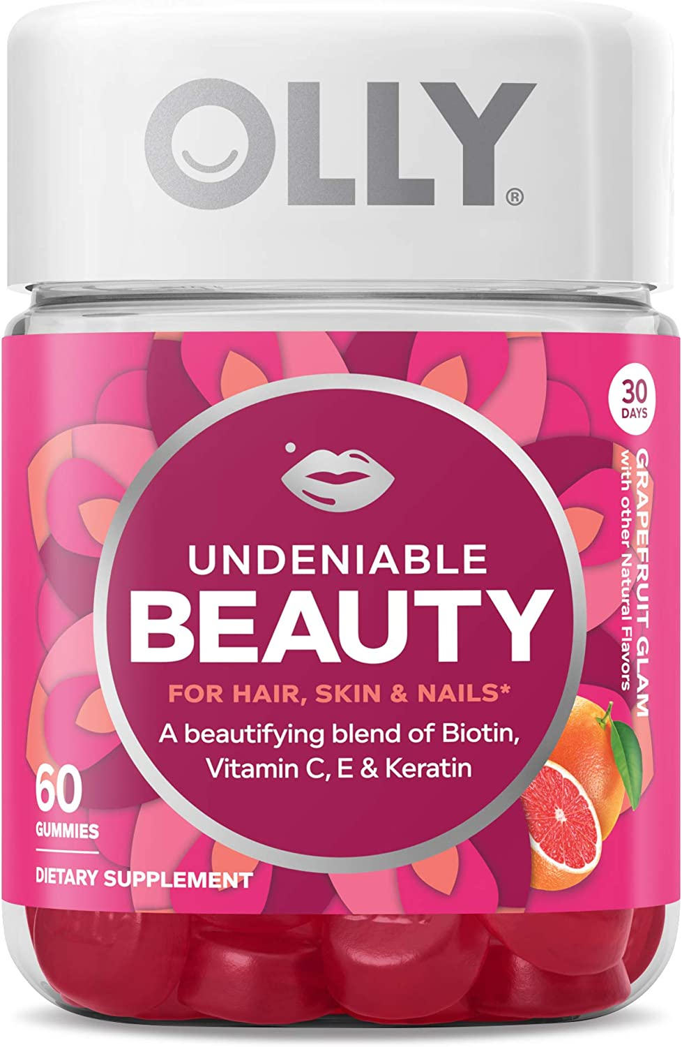 OLLY Undeniable Beauty Gummy, 30 Day Supply (60 Gummies)