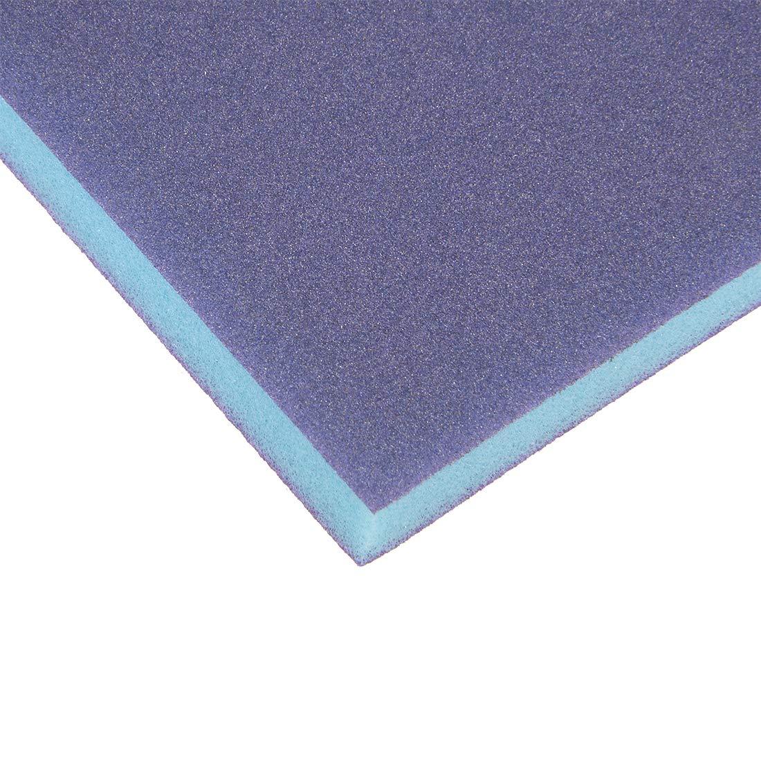 sourcing map /Éponge pon/çage Medium 220 Grain Bloc pon/çage 4.72x3.86 x 0.47 Bleu 8Pcs