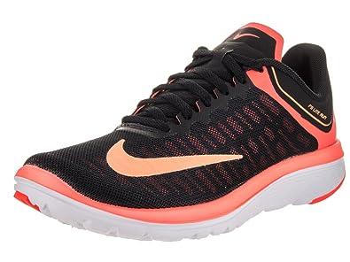 25c5508f54603 Nike Women s FS Lite Run 4 Running Shoe Black Peach Cream Bright Mango