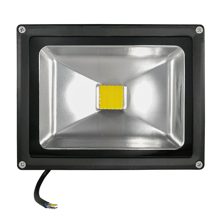 COB LED Außenfluter - IP65 - 20 Watt - 2.800-3.200 Kelvin Warmweiss - 1600 Lumen (ersetzt 150-170 Watt Halogen) - 5er Set