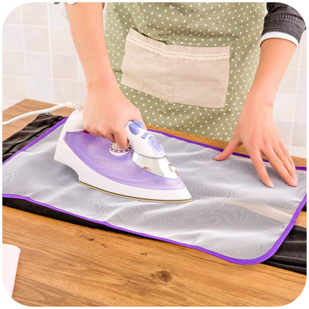 MaxFox Household Tools - Ironing Small Mat,Portable Mesh Gauze Heat Resistant Ironing Cloth Protective Insulation Pad-hot Cover for Home Dryer,Table Top (Random)
