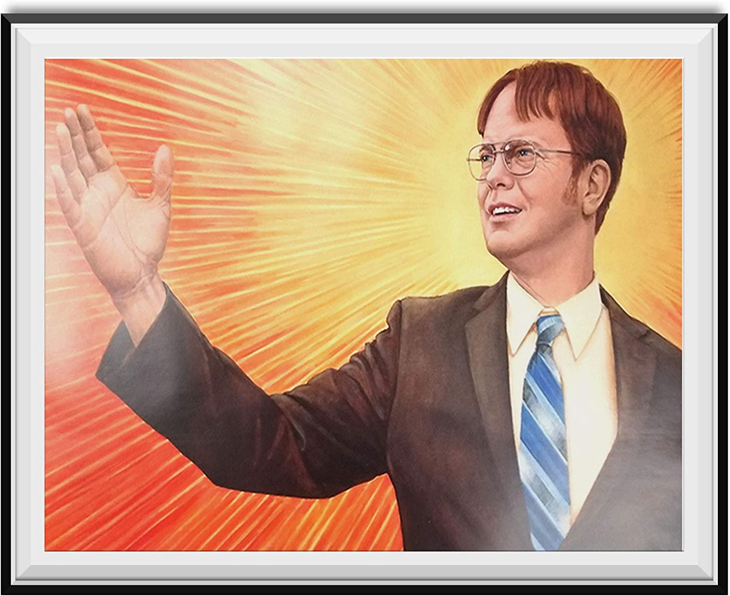 My Party Shirt Dwight Schrute Supreme Leader Branch Manager Painting Poster The Office TV Show