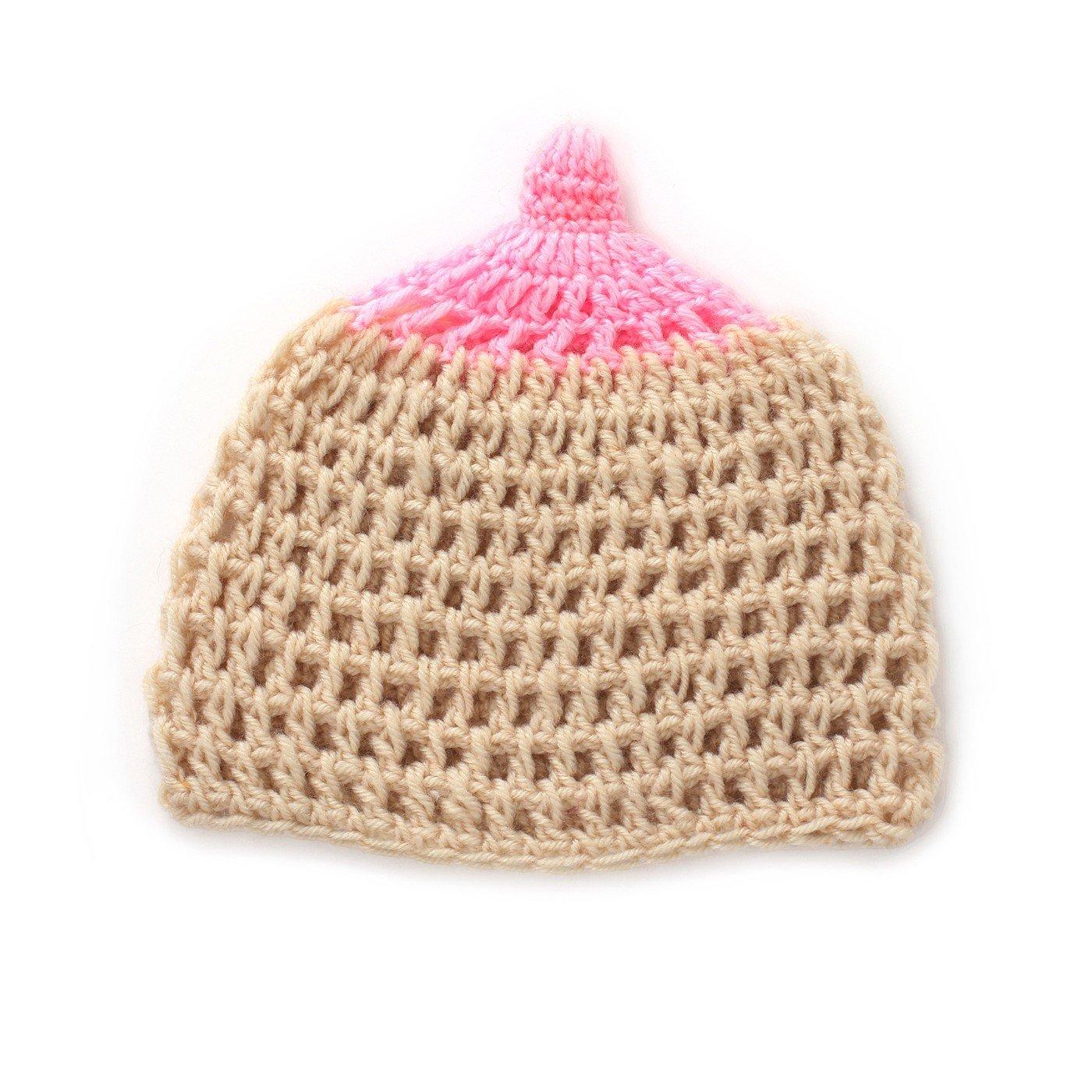Youngate Newborn Baby Girls Lovely Kawaii Knit Weaving Hat Cap Photo Shoot