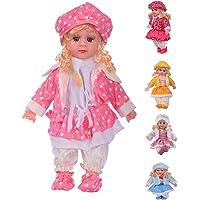 Prakal Cute Looking Musical Rhyming Babydoll, Laughing and Talking Doll, Singing Soft Push Stuffed Baby Girl Toy for Kids, Big Stroller Dolls