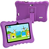 KOCASO [7 INCH] Quad Core [Android 4.4 KitKat] Kids HD Tablet PC- 8GB Storage W/ 32GB Expandable Memory, 1024x600, Dual Camera, WiFi/Bluetooth, Micro USB/SD Card Slot & FREE ACCESSORIES- Purple