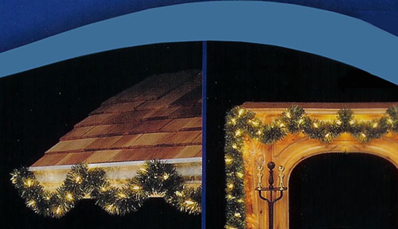 Amazon.com: 18u0027 Pre Lit Green Pine Artificial Christmas Garland   50 Clear  Lights By Hofert: Home U0026 Kitchen