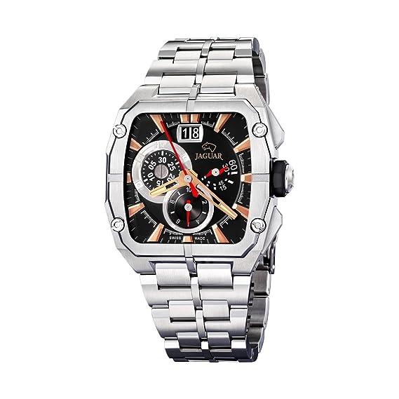 Jaguar 639/3 - Reloj de caballero de cuarzo, correa de acero inoxidable color