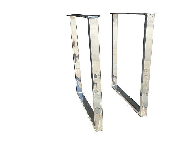 Amazon.com: UMBUZÖ Chrome U Legs DIY Table Legs for Desks or Tables ...