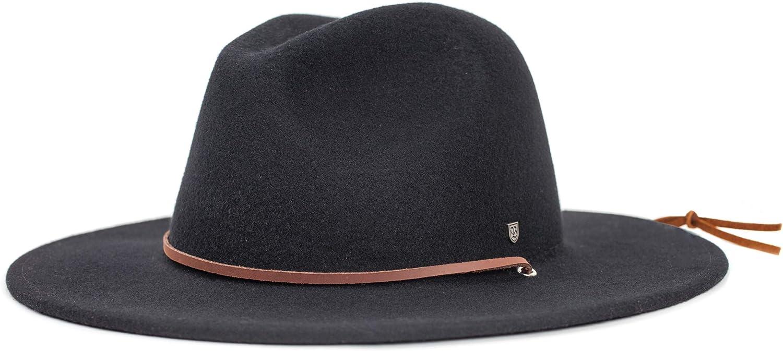 Brixton Men's Field Wide Brim Felt Fedora Hat: Clothing